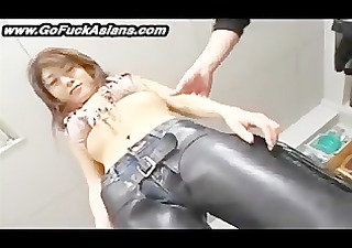 asian bikerchick receives her cunt tickled