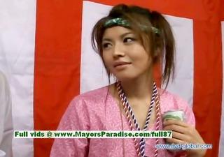 yuzuru japanese virginal asian girl is talking